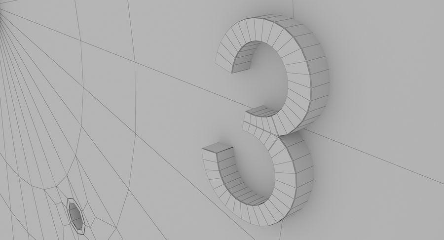 Mantel Clock royalty-free 3d model - Preview no. 28