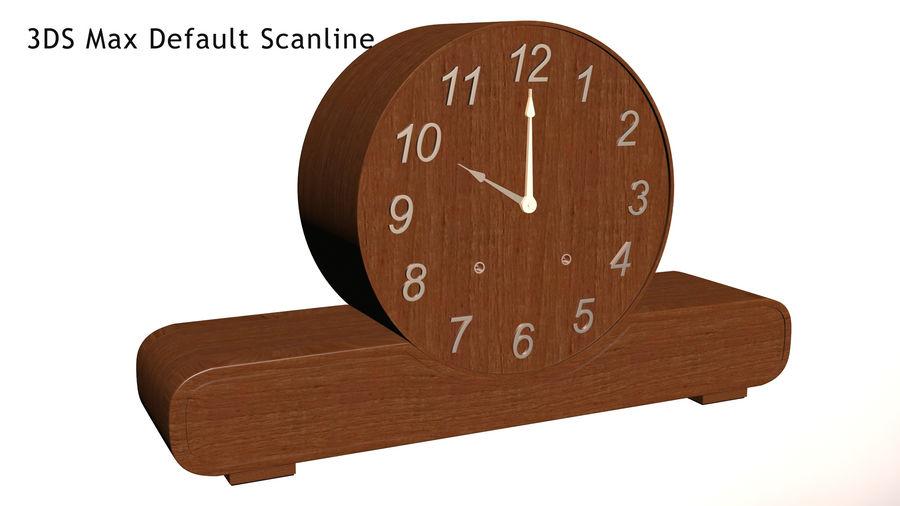 Mantel Clock royalty-free 3d model - Preview no. 14