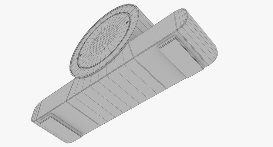 Mantel Clock royalty-free 3d model - Preview no. 23