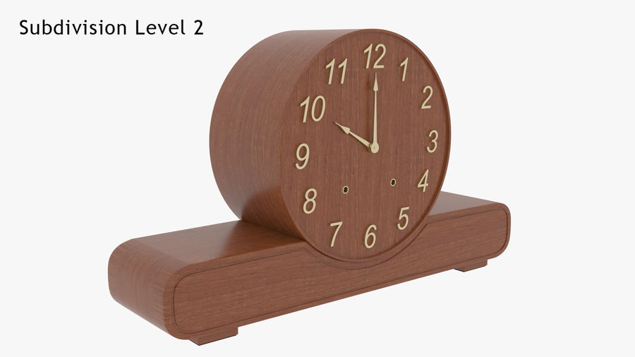 Mantel Clock royalty-free 3d model - Preview no. 17