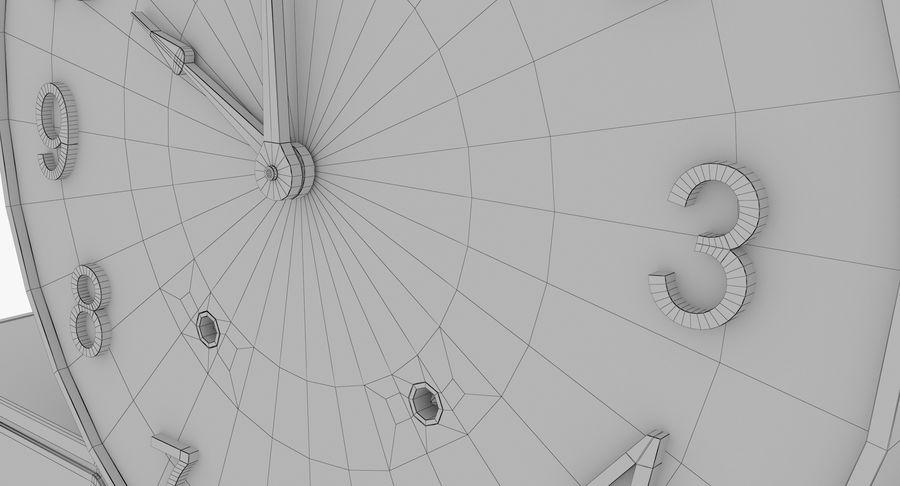 Mantel Clock royalty-free 3d model - Preview no. 26