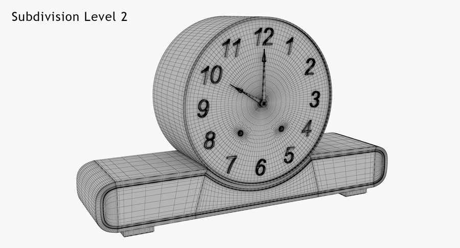 Mantel Clock royalty-free 3d model - Preview no. 20
