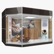 Пункт продажи кофе (1) 3d model