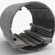 Metro Tube - Train tunnel Railway 3d model