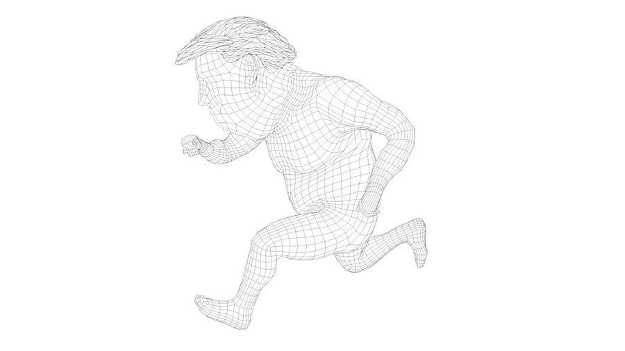 트럼프 조작 된 캐릭터 만화 양식 풍자 만화 royalty-free 3d model - Preview no. 2