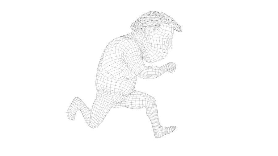 트럼프 조작 된 캐릭터 만화 양식 풍자 만화 royalty-free 3d model - Preview no. 3