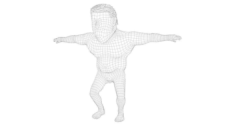 트럼프 조작 된 캐릭터 만화 양식 풍자 만화 royalty-free 3d model - Preview no. 5