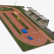 Stadion lekkoatletyczny 3d model
