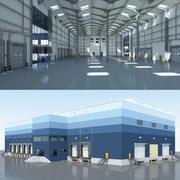 Logistica interna ed esterna del magazzino 3d model