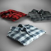 Katoenen shirts gevouwen 3d model