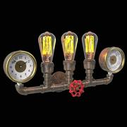 Industrial Pipe Wall Sconce 3d model