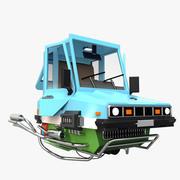 Cartoon Hover Car 3d model