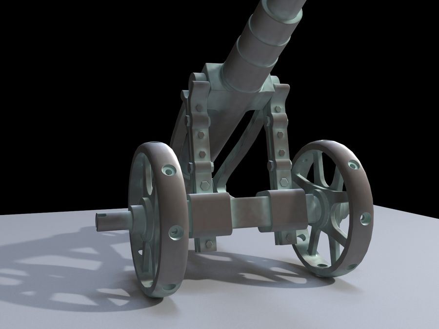 Cañón royalty-free modelo 3d - Preview no. 4