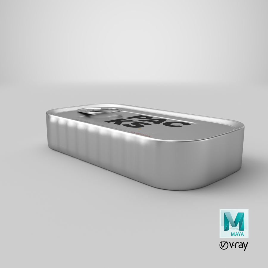 Food Can royalty-free 3d model - Preview no. 1