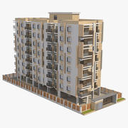아파트 건물 41 3d model