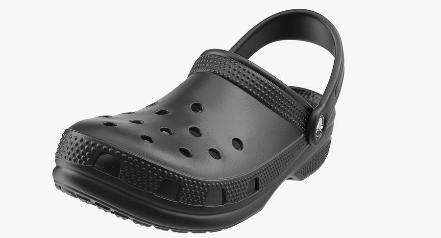 Crocs Coast Clog Black royalty-free 3d model - Preview no. 6