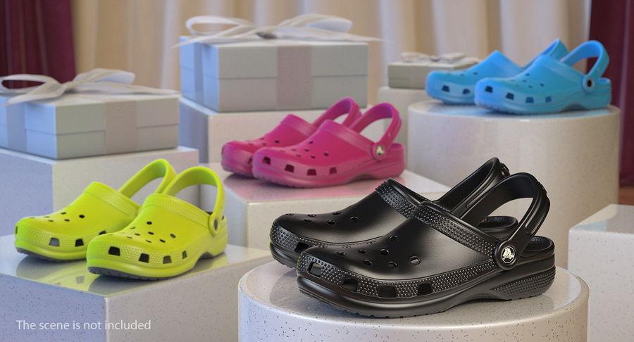 Crocs Coast Clog Black royalty-free 3d model - Preview no. 3