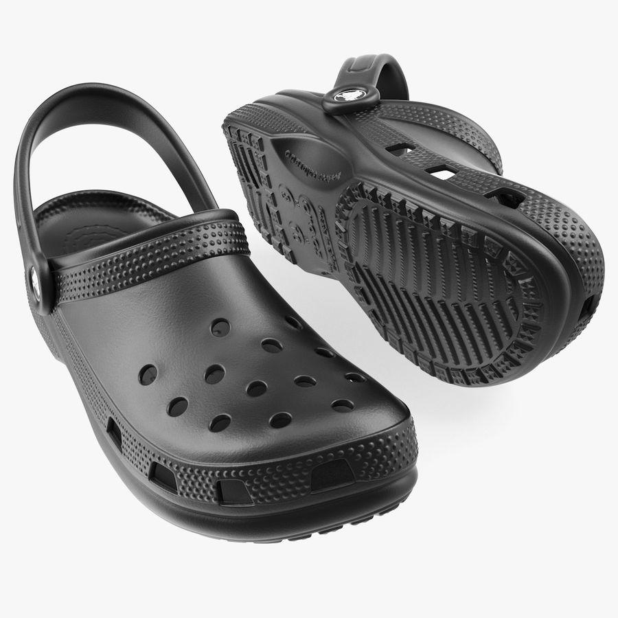 Crocs Coast Clog Black royalty-free 3d model - Preview no. 1