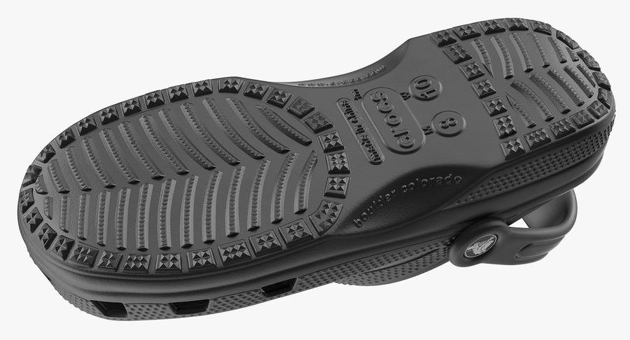 Crocs Coast Clog Black royalty-free 3d model - Preview no. 12