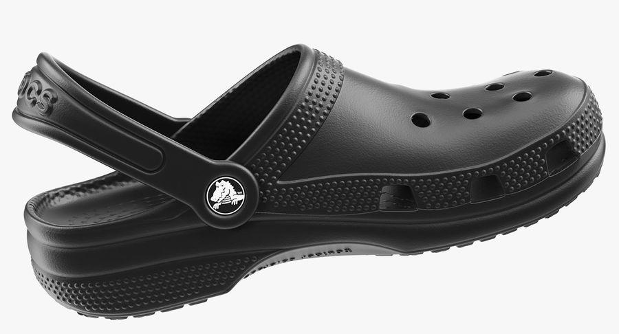 Crocs Coast Clog Black royalty-free 3d model - Preview no. 7