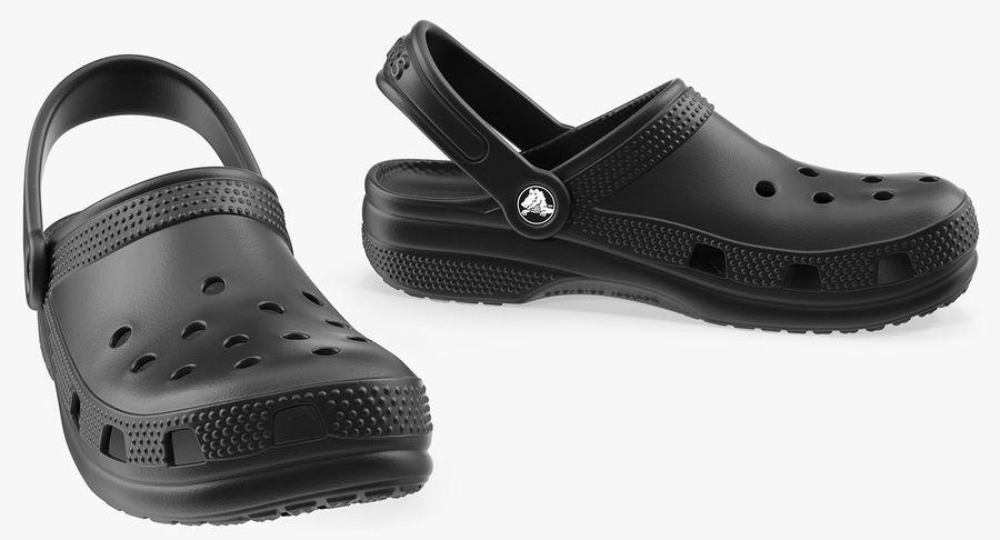 Crocs Coast Clog Black royalty-free 3d model - Preview no. 10