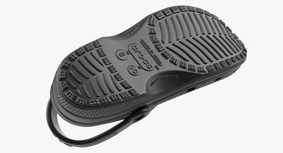 Crocs Coast Clog Black royalty-free 3d model - Preview no. 11