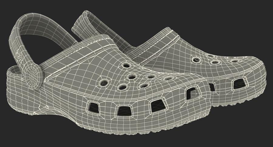 Crocs Coast Clog Black royalty-free 3d model - Preview no. 20