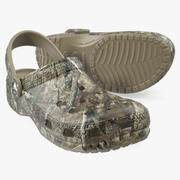 Crocs Youth Classic Realtree Camo Clog 3d model