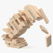 Jenga Falling Tower 3d model