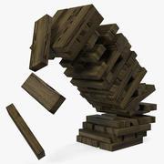 Wooden Falling Tower 3d model