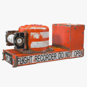 Black Box Flight Recorder Crashed 3d model