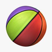 Basketbal 8 kleuren 3d model