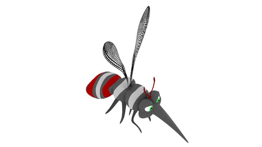 Cartoon Mosquito royalty-free 3d model - Preview no. 7