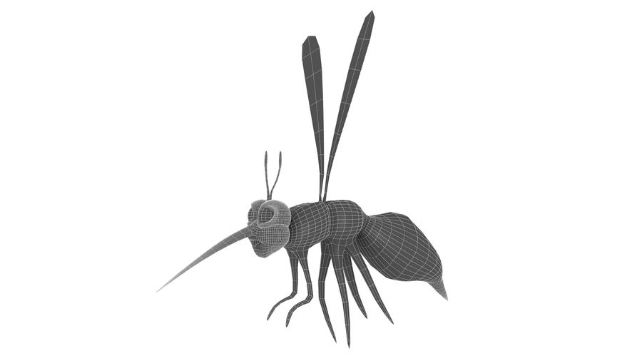 Cartoon Mosquito royalty-free 3d model - Preview no. 8