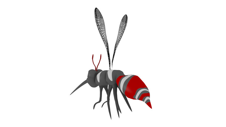 Cartoon Mosquito royalty-free 3d model - Preview no. 4