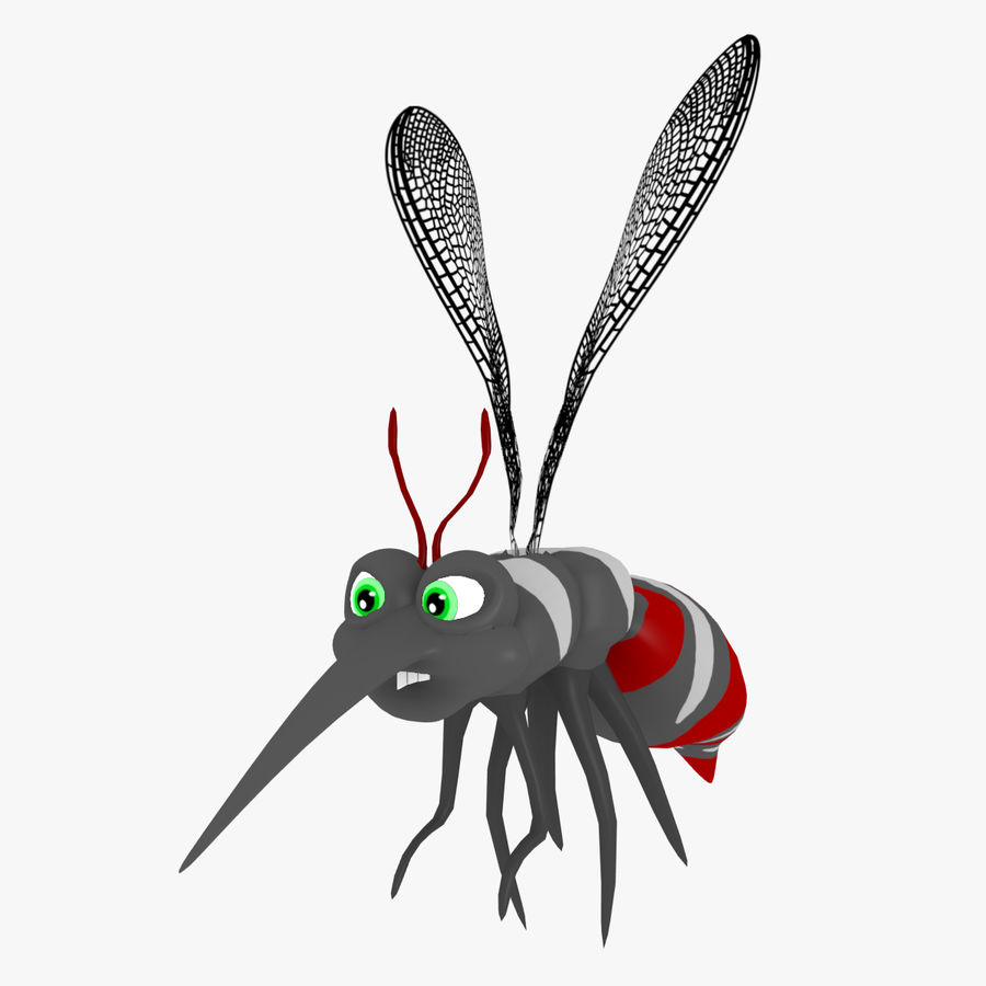 Cartoon Mosquito royalty-free 3d model - Preview no. 1