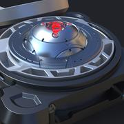 Núcleo do dispositivo de ficção científica 3d model