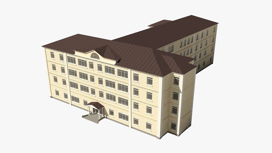 Bâtiment de la ville royalty-free 3d model - Preview no. 2