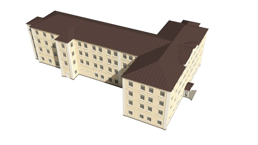 Bâtiment de la ville royalty-free 3d model - Preview no. 7