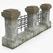 Columns With Fences 3d model