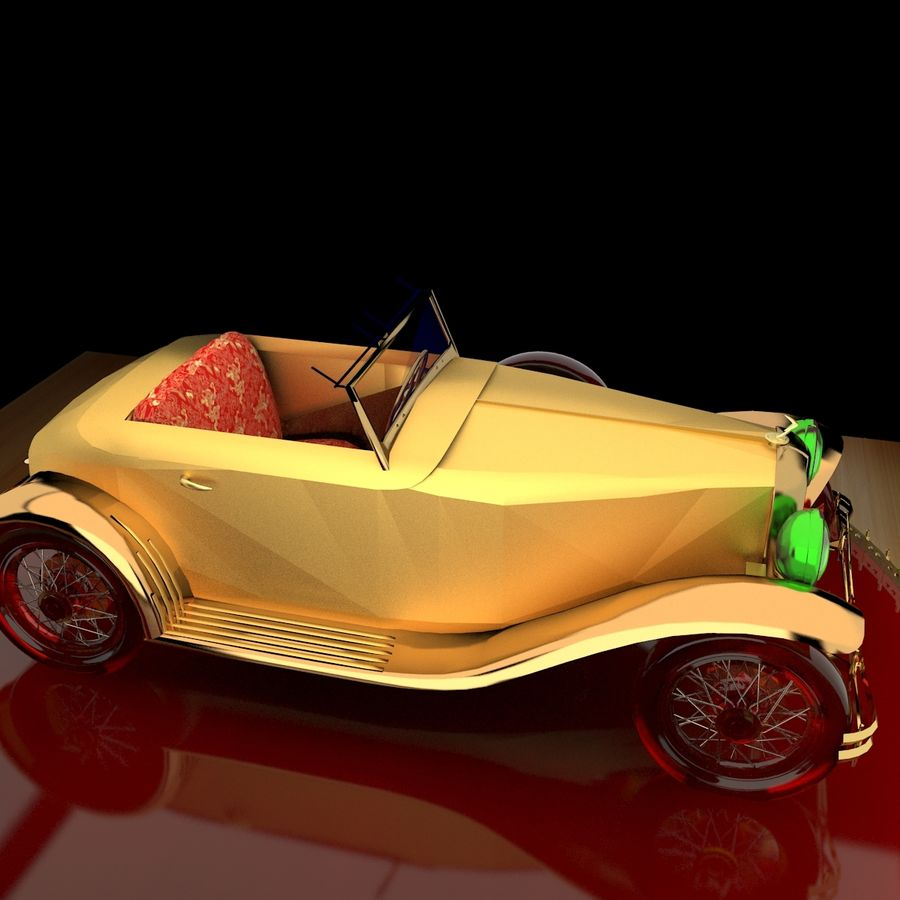 Antyczny samochód royalty-free 3d model - Preview no. 5