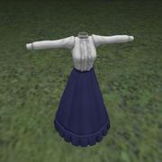 维多利亚时代的衣服 3d model