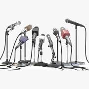 Microphones 3d model