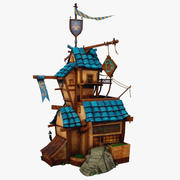 Cartoon Tavern Low Poly 3d model