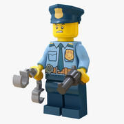Lego Police - Rigged 3d model