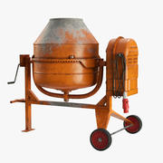 Portable Concrete Mixer(1) 3d model