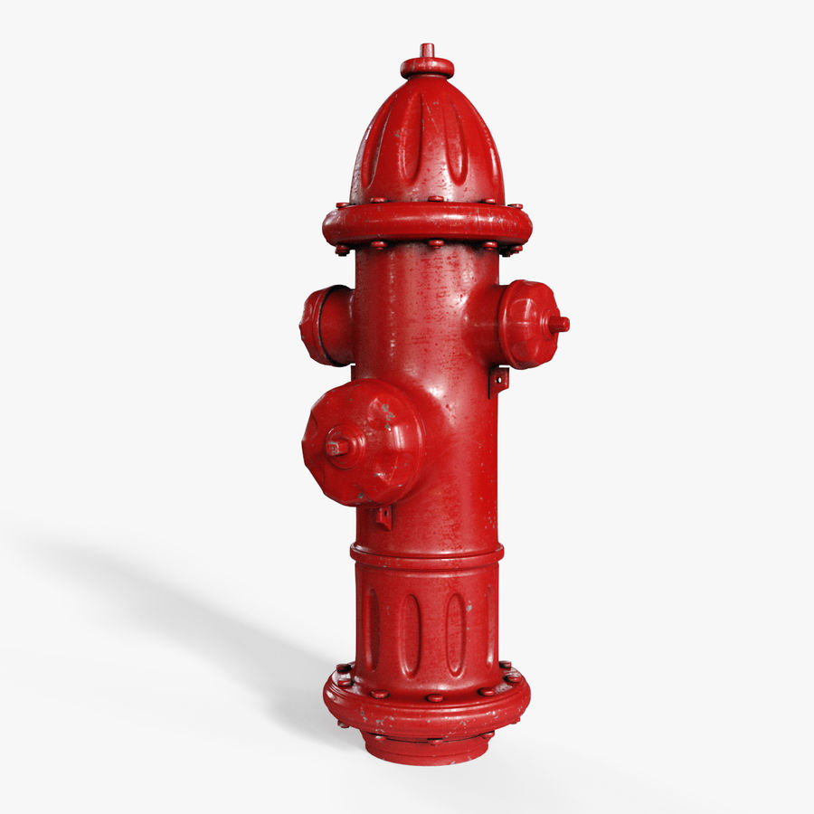 Fire Hydrant Red royalty-free 3d model - Preview no. 1