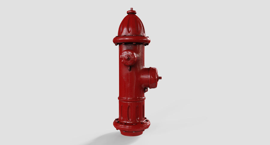 Fire Hydrant Red royalty-free 3d model - Preview no. 8