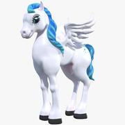 Dibujos Animados Pony Pegaso modelo 3d