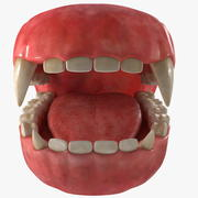 Creature Jaw With Dentition 3d model